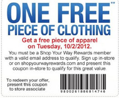 sears Sears Outlet: FREE Apparel Tuesday (10/2) Only!