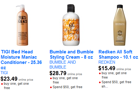 target hair care Target: Buy One Get One Free Salon Quality Hair Care