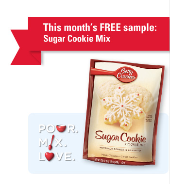 1785 *Expired* Free Sugar Cookie Mix for Betty Crocker Newsletter Members