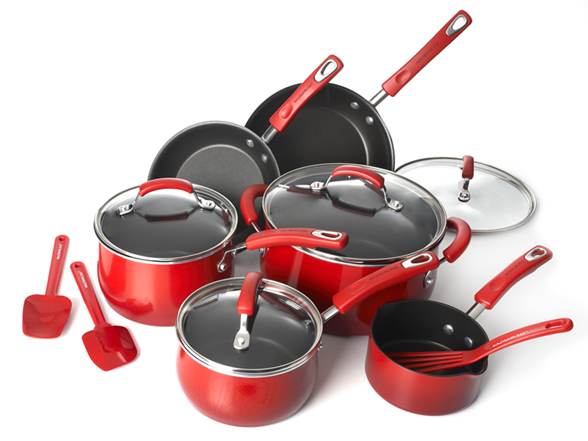 Rachael Ray Cookware Set Rachael Ray Porcelain Cookware Set $104.99 Shipped   Today Only (Great Holiday Gift)