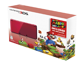 Screen Shot 2012 11 22 at 9.53.34 AM Nintendo 3DS (Flame Red) with Super Mario 3D Land with Free Shipping for $149