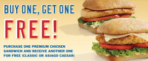 Sonic 300x124 Buy One Chicken Sandwich, Get One Free at Sonic + More Restaurant Deals