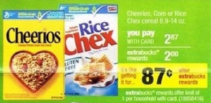 cheerios 300x146 Cheerios Moneymaker Deal at CVS Starting 11/22
