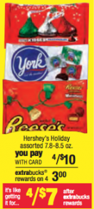 cvs candy 135x300 Hershey Holiday Bagged Candy Just 75¢ at CVS Starting 12/2