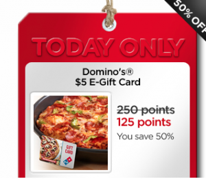 dominos 300x262 My Coke Rewards: Dominos $5 E Gift Card for 125 Points (Today Only)