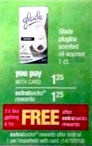 glade 189x300 Glade Plugin Moneymaker at CVS Starting 11/18