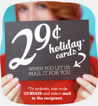 holiday cards Cardstore.com: Personalized Holiday Cards for just 29 cents each