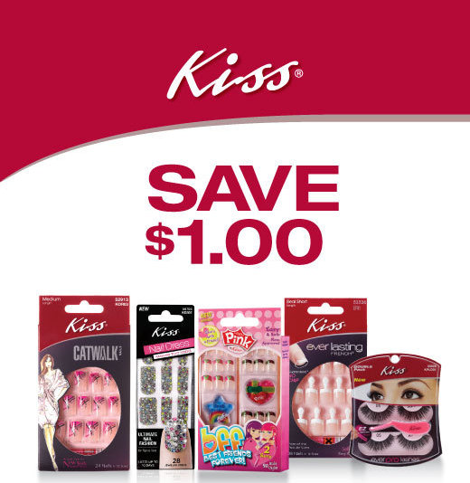 picture relating to Printable Dollar General Coupons titled Kiss Nail Printable Coupon + Greenback All round Package deal Well-known