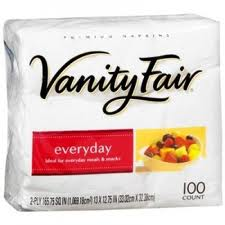 Vanity Fair Napkins Only $.37.