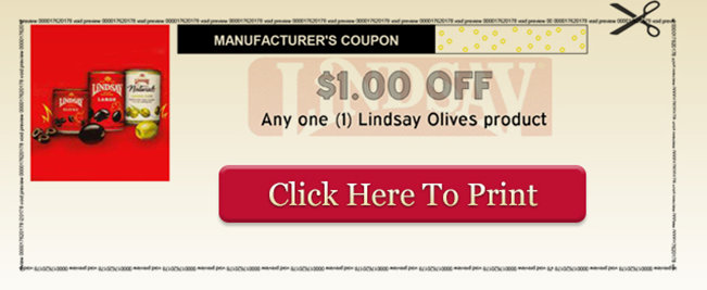 olive NEW $1/1 Lindsay Olives Printable Coupon = Free at Walgreens, CVS and Dollar Tree