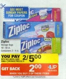 ziploc Ziploc Printable Coupons = $1.00 Rite Aid Deal Scenarios