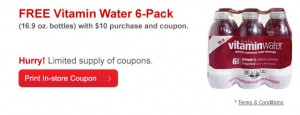 CVSWater 300x115 CVS: Free 6ct Pack of VitaminWater with $10 Purchase