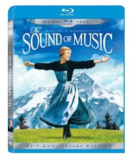Screen Shot 2012 12 03 at 7.29.57 AM The Sound of Music 45th Anniversary Blu Ray/DVD combo for $15