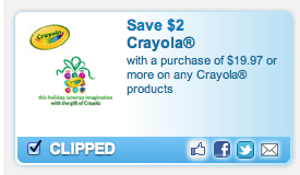 Screen Shot 2012 12 04 at 2.11.40 PM Printable Coupons: Crayola, South Beach, Gas X, Del Monte, Purina and More