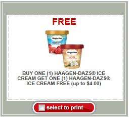 picture relating to Haagen Dazs Printable Coupon named BOGO Absolutely free Haagen-Dazs Printable Coupon + Retail store Bargains
