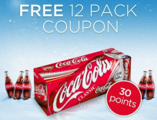 coke *Expired* MyCokeRewards: 12 Pack of Sparkling Coca Cola for 30 Points