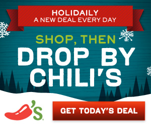 FREE desserts, appetizers and more at Chilis!  Check it out!
