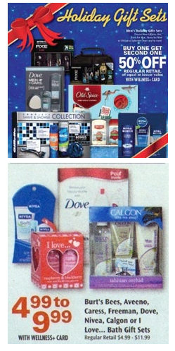 holiday gift sets Rite Aid: Dove and Caress Gift Sets = As Low As $1.99 With Coupons
