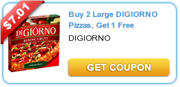 photo regarding Digiorno Printable Coupon titled Sizzling* DiGiorno Pizza Printable Coupon codes for Order 2 Obtain 1
