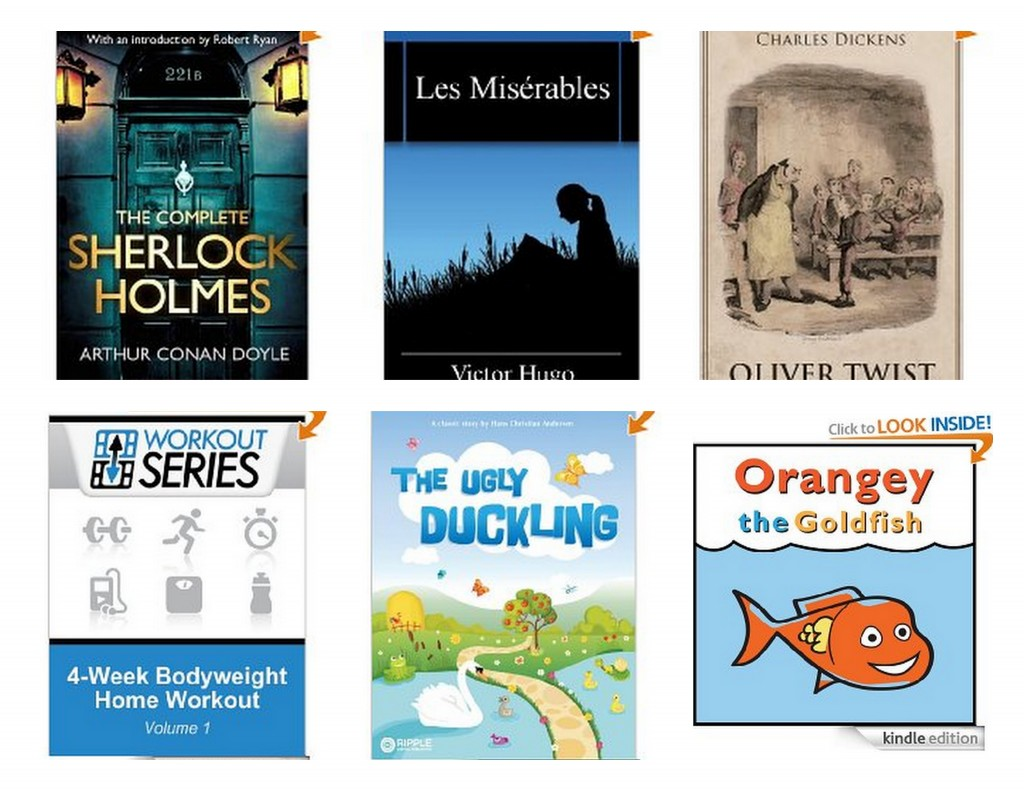 kindle books 1024x791 Free Kindle Books | Sherlock Holmes, Les Miserables, 4 Week Bodyweight Home Workout and More