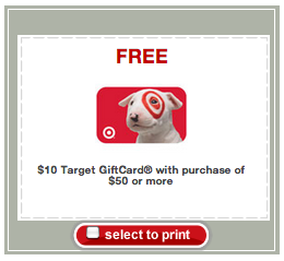 target gift card deal free 10 gift card when you spend 50 at target hot Target Gift Card Deal – FREE $10 Gift Card When You Spend $50 at Target! *Hot*