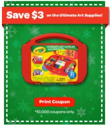 ultimate supplies New Crayola Ultimate Arts Supplies Case Printable Coupon + Target Deal