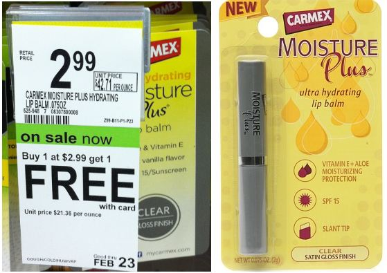 Carmex Carmex Moisture Plus Lip Balm For 49¢ at Walgreens