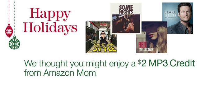 Screen Shot 2013 01 01 at 8.46.59 AM Amazon Moms: Free $2 MP3 Credit Via Email