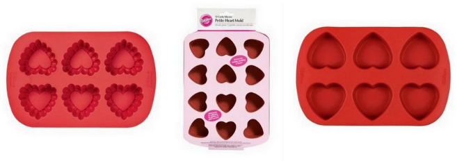 Screen Shot 2013 01 10 at 11.37.47 AM Wilton Heart Shaped Silicon Molds for $7.49