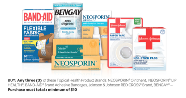 Johnson & Johnson Mail in Rebate: Get $5 Back When You Spend $10