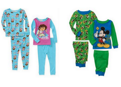 Screen Shot 2013 01 16 at 6.51.59 PM Walmart: Childrens Cotton Pajamas 2 Sets for as low as $8.97 Shipped