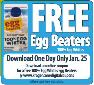 Snip20130118 9 Kroger Shoppers: Free Carton of 100% Egg Whites (Load Your Coupon Today Only)
