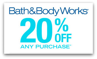 bath and body New 20% Off Bath and BodyWorks Printable Coupon
