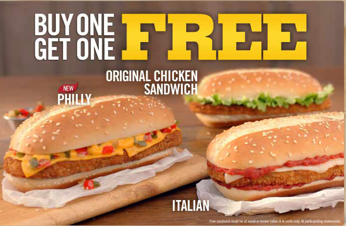 bk Burger King | BOGO FREE Chicken Sandwich Plus BK Crown Club FREEbie