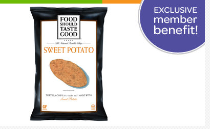 box top Box Top Members: FREE Sample of Food Should Taste Good Sweet Potato Tortilla Chips