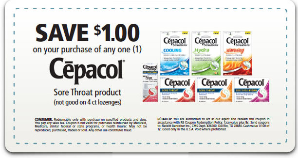 picture relating to Printable Dollar Tree Coupons called Cepacol Printable Coupon \u003d Absolutely free at Greenback Tree and Reasonably priced at