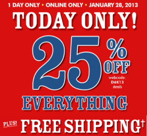 childrens place The Childrens Place 25% Off + FREE Shipping (Today Only)