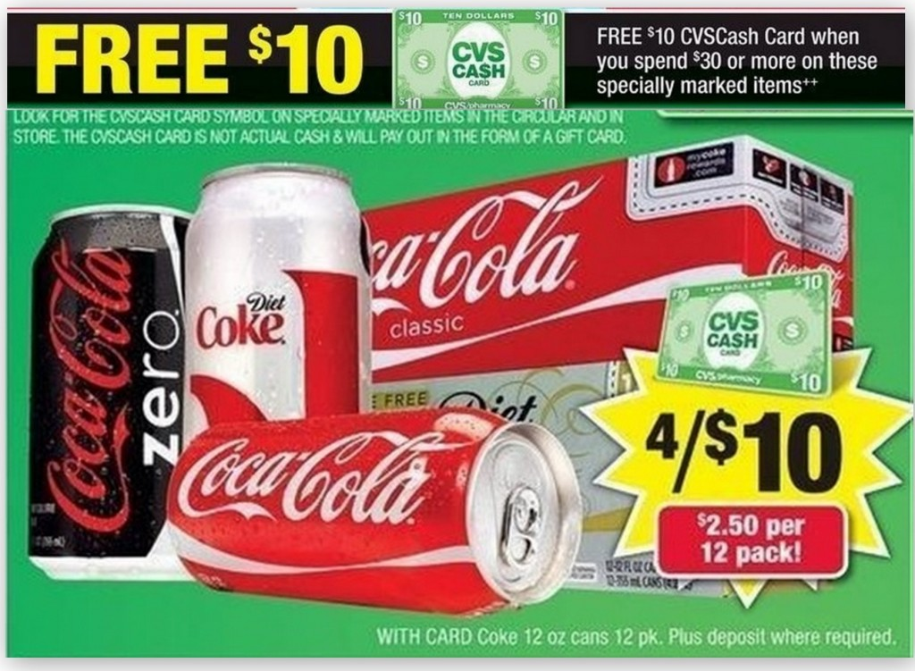 coke 1024x751 Awesome Deal on Coke Products at CVS Starting 1/20