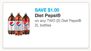 graphic about Pepsi Printable Coupons named Pepsi Printable Coupon codes for $1.00 off (2) Pepsi Food plan 2L