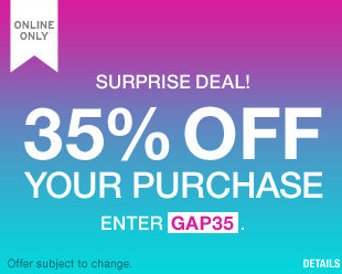gap GAP: Get 35% off on Your Entire Purchase (Today Only)