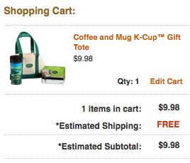 green mountain checkout Green Mountain Coffee and Mug K Cup Gift Tote $9.98 Shipped (down from $19.95)