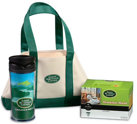 green mountain Green Mountain Coffee and Mug K Cup Gift Tote $9.98 Shipped (down from $19.95)