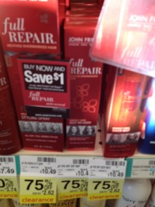 john frieda 225x300 Up to 75% off Clearance Deals and Finds at CVS