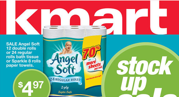 kmart Angel Soft Toilet Paper Printable Coupon| Stock up Pricing at Kmart, Walmart or Target