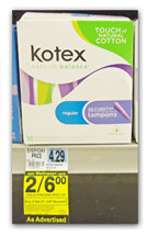 kotex New Kotex Printable Coupons + Rite Aid Scenario