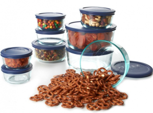 pyrex Woot: Pyrex 18 Piece Storage Set Blue Lids $24.99 Shipped