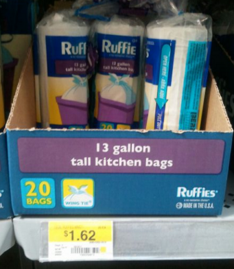 ruffies Ruffies Coupon | Trash Bags for 87¢ at Walmart