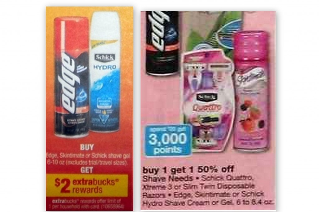 shave gel collage 1024x682 Edge and Skintimate Shaving Gel Coupons + CVS and Walgreens Deals Starting 2/3
