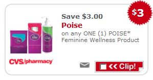 CVS Poise Printable Coupon CVS: Poise Moneymaker Deal After Printable Coupon!