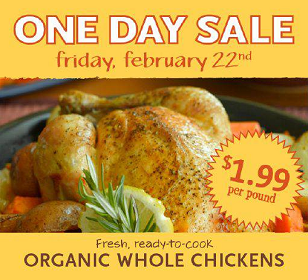 ODS Whole Chicken Whole Foods: Organic Whole Chicken for $1.99 per Pound